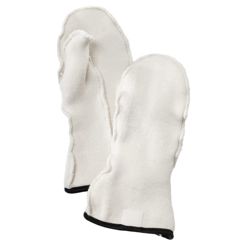 Hestra Wool Terry Liner Mitt JR 5 Offwhite