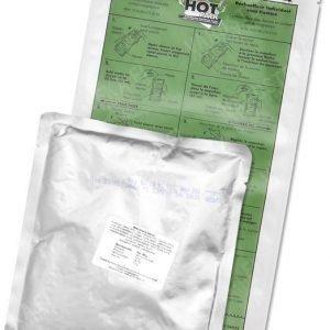 Hot Pack taistelumuona-annos lämmityspussilla