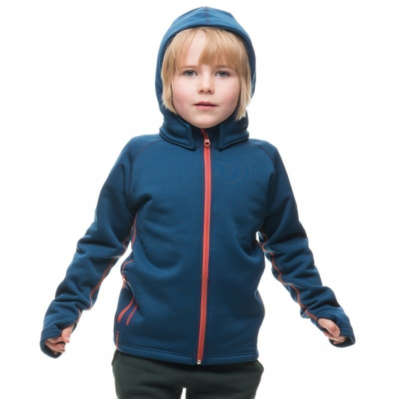 Houdini Kid's Power Houdi XS Blue Steel