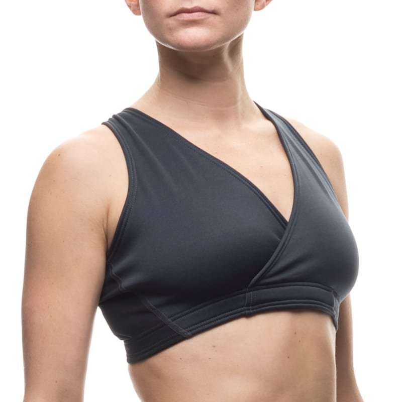 Houdini Mix Wrap Bra L True Black