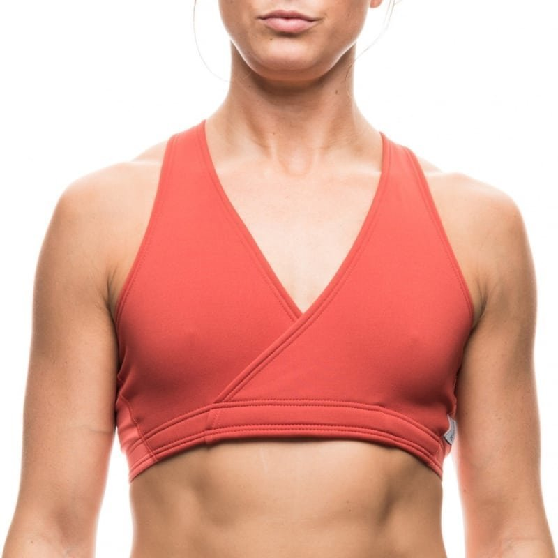 Houdini Mix Wrap Bra S Burned Red