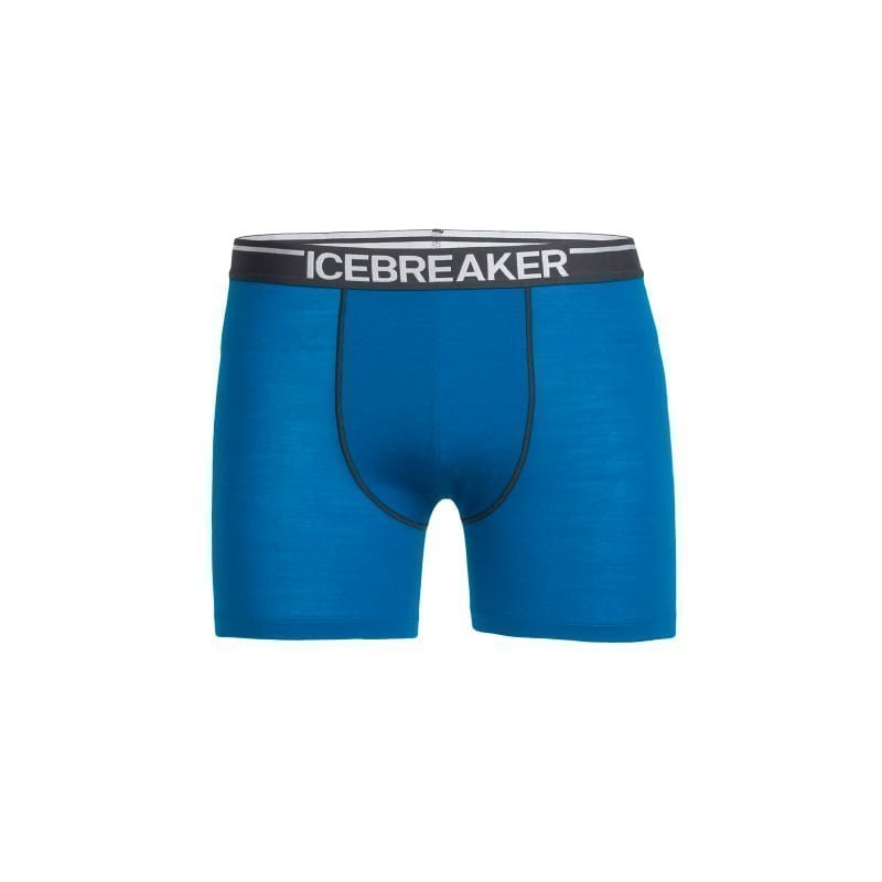 Icebreaker Men's Anatomica Boxers XL Alpine/Monsoon/White