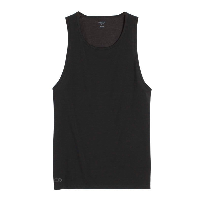 Icebreaker Mens Anatomica Tank XL Black/Monsoon