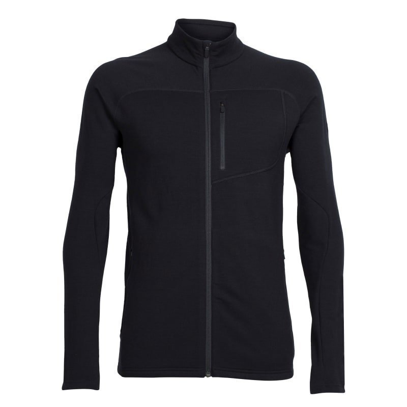 Icebreaker Men's MT Elliot LS Zip XL Black/Black/Black