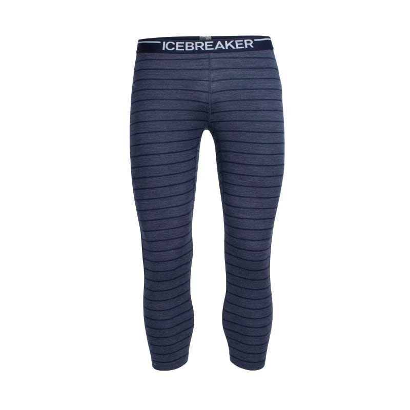 Icebreaker Men's Oasis Legless XL Fathom Hthr/Admiral/Stripe