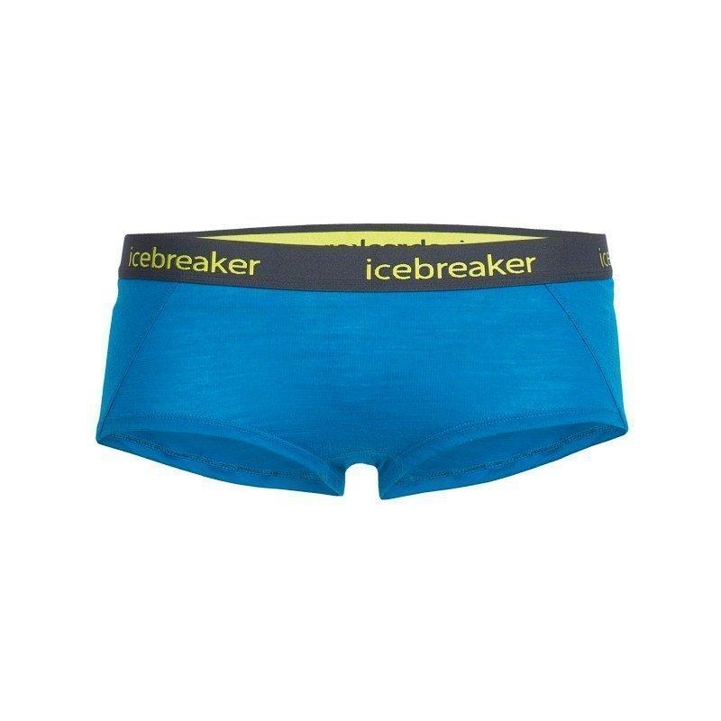 Icebreaker Women's Sprite Hot Pants L Alpine/Stealth/Cactus