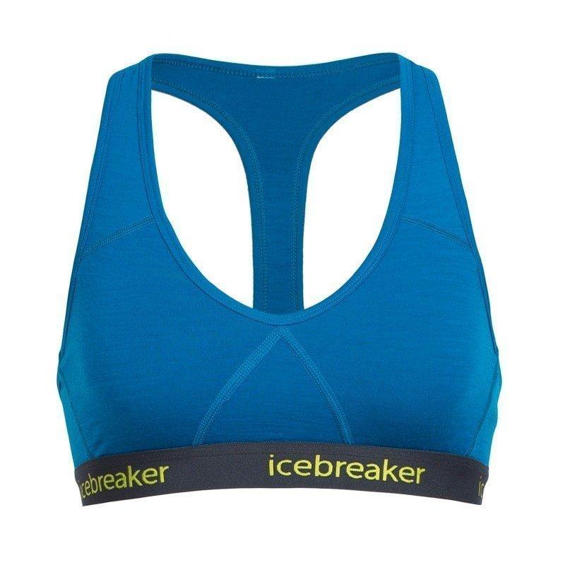 Icebreaker Women's Sprite Racerback Bra XL Alpine/Stealth/Cactus