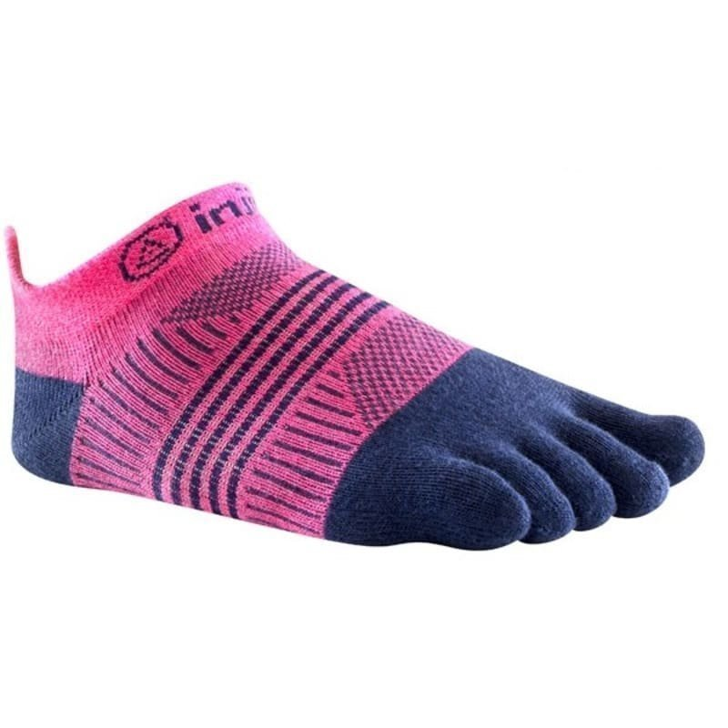 Injinji Run Lightweight No Show Xlife XS/S Pink/Navy