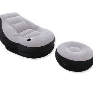 Intex lounge chair and ottoman ultra ilmatäytteinen tuoli ja rahi