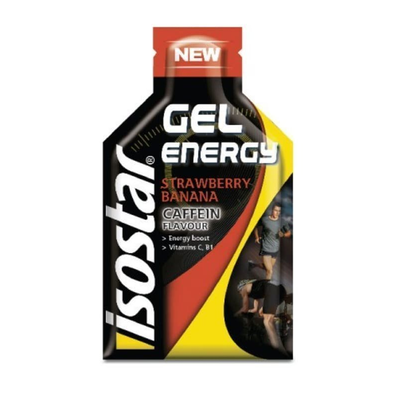 Isostar Energy Gel - med koffein 35 G Jordgubb/Banan