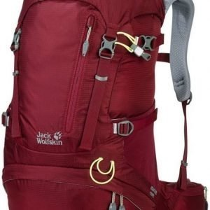 Jack Wolfskin Acs Hike 30 Women Pack Tummanpunainen
