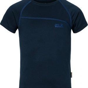 Jack Wolfskin Active T-Shirt B Tummansininen 116