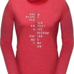 Jack Wolfskin Brand Longsleeve Punainen XL