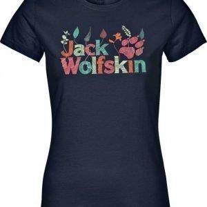 Jack Wolfskin Brand T Tummansininen M
