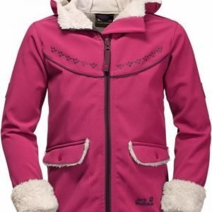 Jack Wolfskin Cold Breeze Jacket Girls Punainen 164