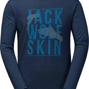 Jack Wolfskin Floating Ice Longsleeve Tummansininen XXL