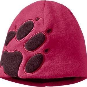 Jack Wolfskin Front Paw Hat Kids Punainen yksi koko (49-55 cm)