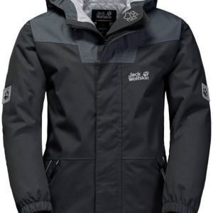 Jack Wolfskin Glacier Bay Jacket Boys Dark Grey 140