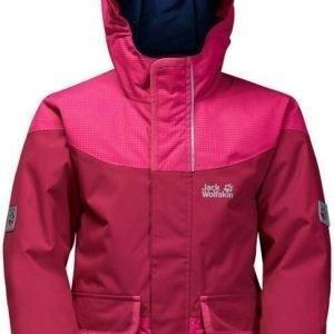 Jack Wolfskin Glacier Bay Jacket Girls Punainen 164