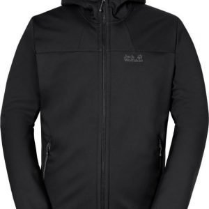 Jack Wolfskin Grand Valley Softshell Jkt M Musta XXXL