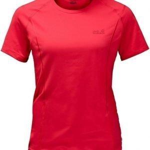 Jack Wolfskin Hollow Range T-Shirt Punainen S