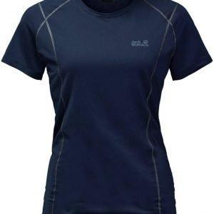 Jack Wolfskin Hollow Range T-Shirt Tummansininen L