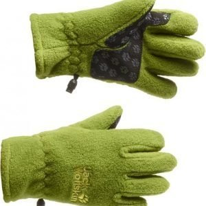 Jack Wolfskin Kids Fleece Glove Vihreä 152