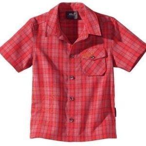 Jack Wolfskin Kids Mosquito Sun Shirt Punainen 128