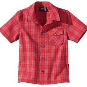 Jack Wolfskin Kids Mosquito Sun Shirt Punainen 140