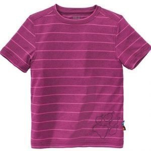 Jack Wolfskin Kids Run Around Tee Berry Red 104