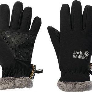 Jack Wolfskin Kids Softshell Highloft Glove musta 128