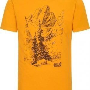 Jack Wolfskin Mountain T M Keltainen XL