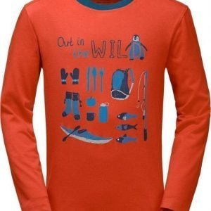 Jack Wolfskin Out In The Wild Longsleeve Oranssi 164