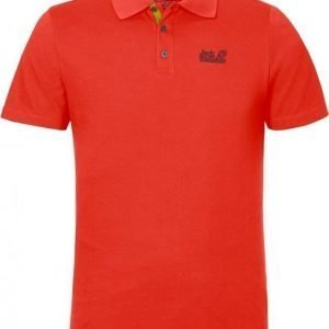Jack Wolfskin Pique Function 65 Polo M Coral M