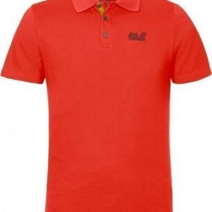 Jack Wolfskin Pique Function 65 Polo M Coral XXL