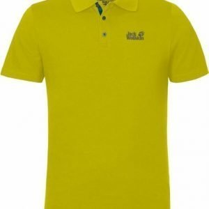 Jack Wolfskin Pique Function 65 Polo M Lime S