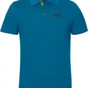 Jack Wolfskin Pique Function 65 Polo M Turkoosi L