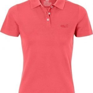 Jack Wolfskin Pique Function 65 Polo Pink XS