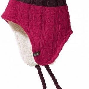 Jack Wolfskin Polar Bear Knit Hat Kids Tummanpunainen S