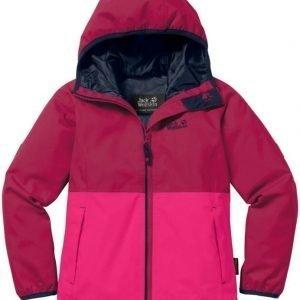 Jack Wolfskin Rainy Days Texapore Jacket Girls Punainen 164