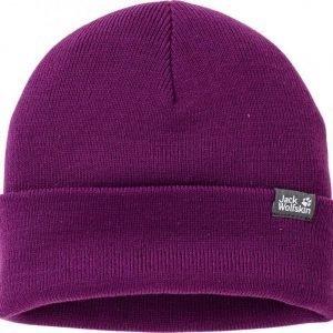 Jack Wolfskin Rib Knit Cap Purple S