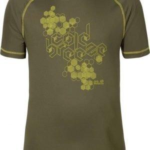 Jack Wolfskin Rock Chill T-Shirt M Oliivi XL