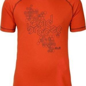 Jack Wolfskin Rock Chill T-Shirt M Punainen L