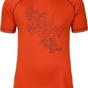 Jack Wolfskin Rock Chill T-Shirt M Punainen M