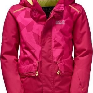 Jack Wolfskin Snow Ride Jacket Kids Punainen 104