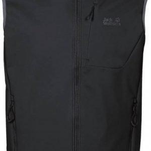 Jack Wolfskin Stormbreeze Softshell Vest M Musta XL