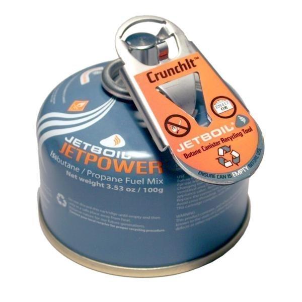Jetboil kaasusäiliön kierrätystyökalu