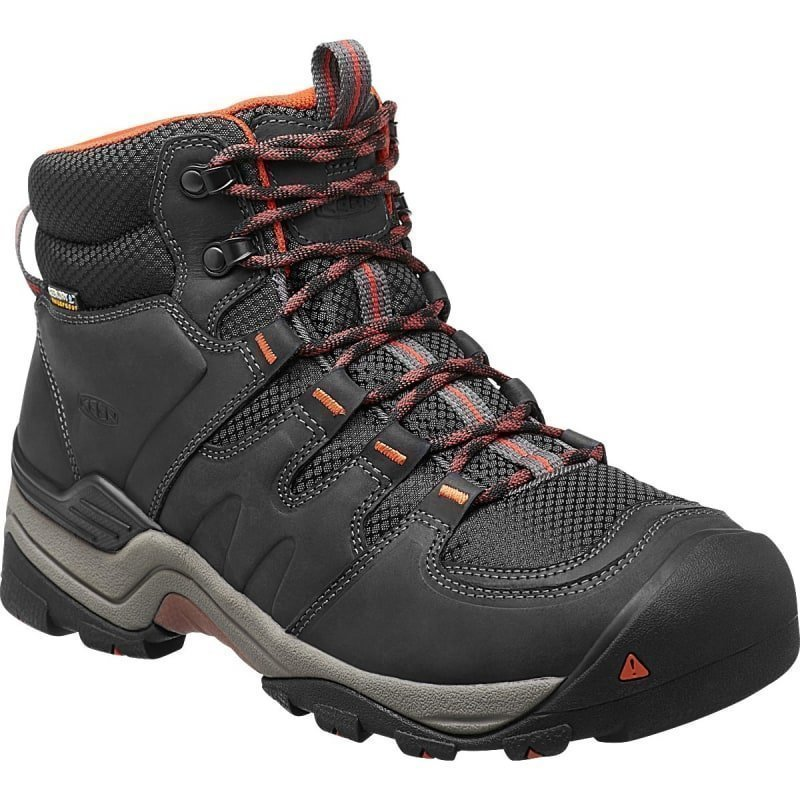 Keen Men's Gypsum II Mid WP US 13/EU 47 India Ink/Burnt Ochre