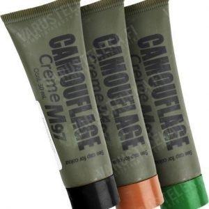 Kemex M/97-naamiovärisetti musta ruskea ja vihreä