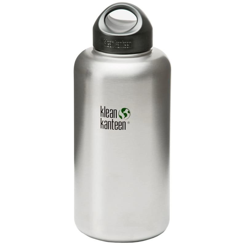 Klean Kanteen 1182ml Kanteen Wide 18/8 Loop Cap Brusted Steel